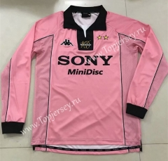 Retro Version 1998 Juventus Pink LS Thailand Soccer Jersey AAA-SL