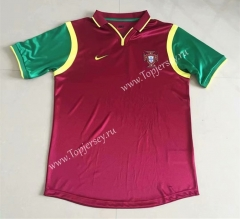 Retro Version 1999 Portugal Home Red Thailand Soccer Jersey AAA-DG