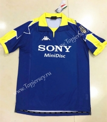 Retro Version 1997-1998 Juventus Blue Thailand Soccer Jersey AAA-510