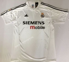 Retro Version 2003 Real Madrid Home White Thailand Soccer Jersey AAA-912