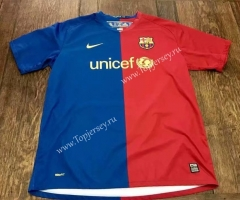 Retro Version 2008-2009 Barcelona Home Red&Blue Thailand Soccer Jersey AAA-503