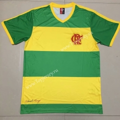 Retro Version 2004 Flamengo Yellow&Green Thailand Soccer Jersey AAA-609