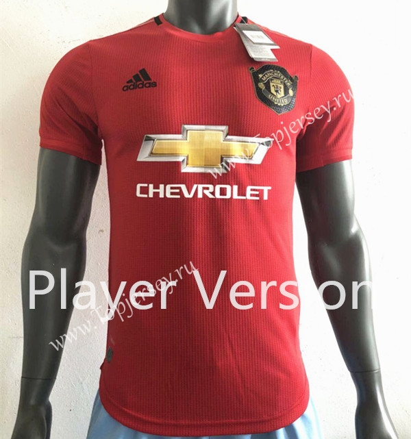 huge selection of e9034 bea43 Player Version 2019-2020 Manchester United Home Red Thailand ...
