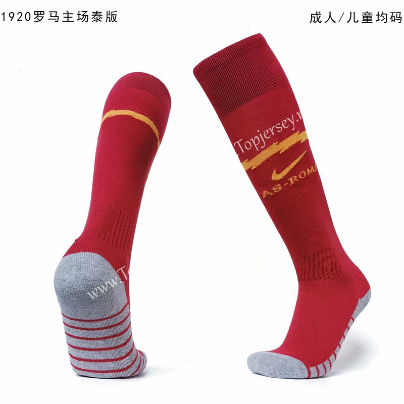2019-2020 Roma Home Red Kids/Youth Soccer Socks-Roma| topjersey