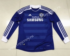 Retro Version 2011-2012 Chelsea Home Blue LS Thailand Soccer Jersey AAA-510