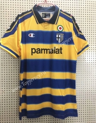 Retro Edition 1990-2000 Parma Calcio Home Yellow&Blue Thailand Soccer Jersey AAA-811