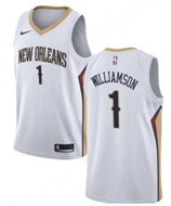New Orleans Pelicans White #1 NBA Jersey