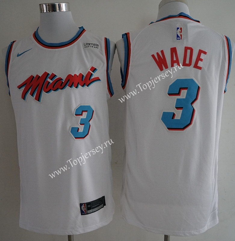 new products 1b81c 2f82c City Edition Miami Heat White #3 NBA Jersey-Miami Heat ...
