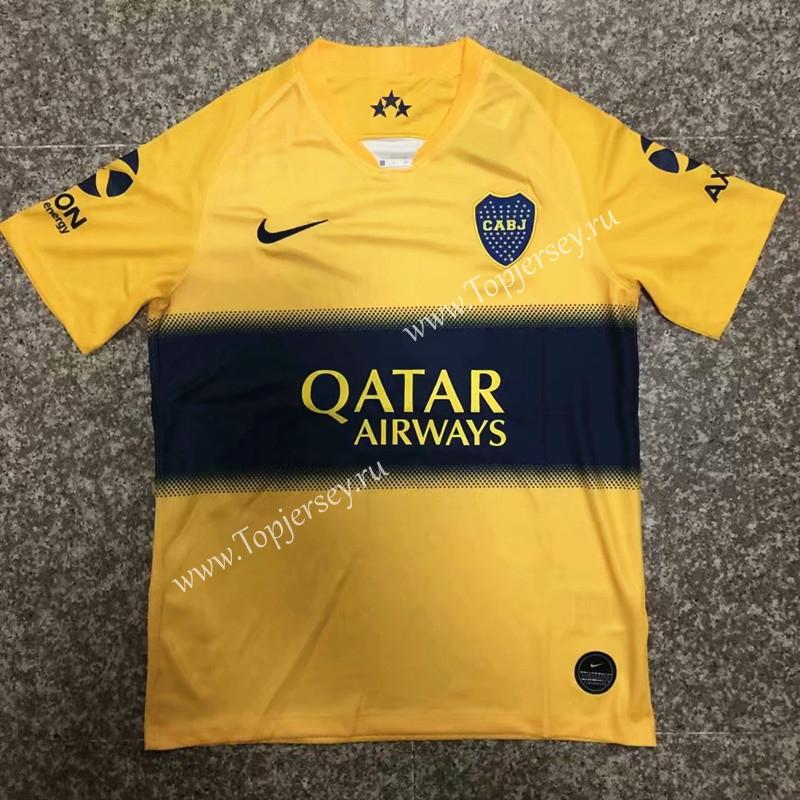 size 40 0f6e7 47834 2019-2020 Boca Juniors Away Yellow Thailand Soccer Jersey ...