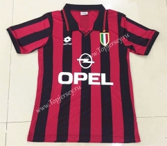 Retro Version 1996 AC Milan Home Red&Black Thailand Soccer Jersey AAA-DG