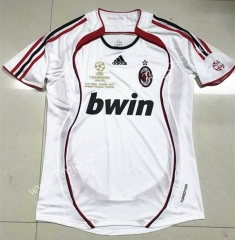 Retro Version 2006 AC Milan Away White Thailand Soccer Jersey AAA-510