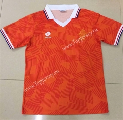 Retro Version 1991 Wold Cup Netherlands Home Orange Thailand Soccer Jersey AAA-DG
