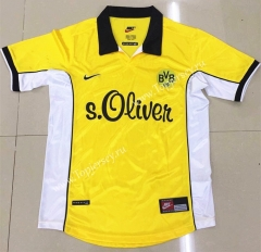 Retro Version 1998 Borussia Dortmund Home Yellow Thailand Soccer Jersey AAA-DG