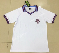 Retro Version 1980 West Ham United Away White Thailand Soccer Jersey AAA-DG