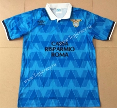 Retro Version 1989 Lazio Home Blue Thailand Soccer Jersey AAA-AY