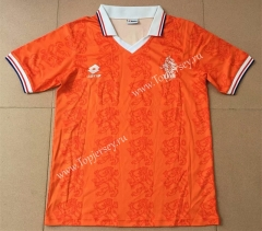 Retro Version 1995 Netherlands Home Orange Thailand Soccer Jersey AAA-AY