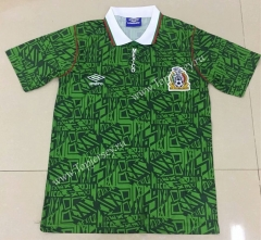 Retro Version 1994 Mexico Home Green Thailand Soccer Jersey AAA-AY