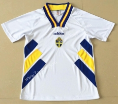 Retro Version 1994 Sweden White Thailand Soccer Jersey AAA-AY