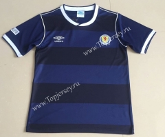 Retro Version 1986 Scotland Home Blue&Black Thailand Soccer Jersey AAA-AY