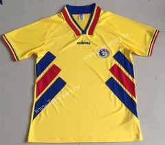 Retro Version 1994 Romania Yellow Thailand Soccer Jersey AAA-AY