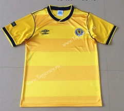 Retro Version 1986 Scotland Away Yellow Thailand Soccer Jersey AAA-AY