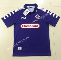 Retro Version 1998 Fiorentina Purple Thailand Soccer Jersey AAA-SL