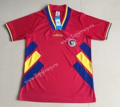 Retro Version 1994 Romania Red Thailand Soccer Jersey AAA-AY