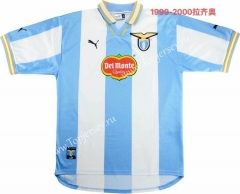 Retro Version 1999-2000 Lazio Home Blue&White Thailand Soccer Jersey AAA-811