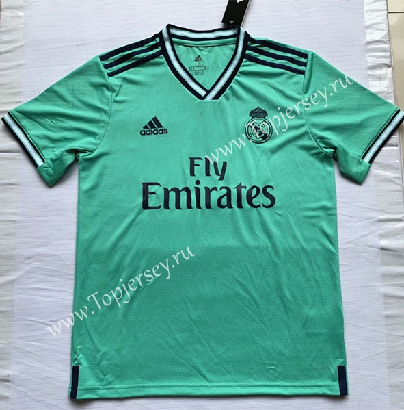 reputable site cf6c8 0b2bf 2019-2020 Real Madrid 2nd Away Green Thailand Soccer Jersey ...