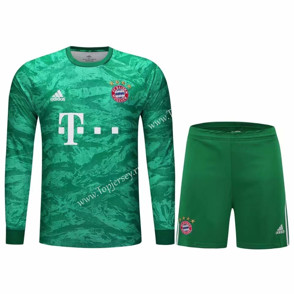 brand new dfbf3 7a408 2019-2020 Bayern München Goalkeeper Green Thailand LS Soccer ...