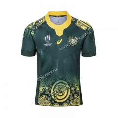 Player Version 2019 World Cup Australia Away Green Thailand Rugby Shirt