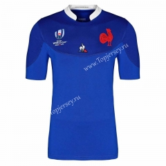 2019 World Cup France Home Blue Thailand Rugby Shirt