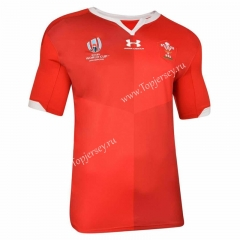 2019 World Cup Wales Home Red Thailand Rugby Shirt
