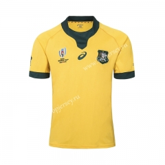 2019 World Cup Australia Home Yellow Thailand Rugby Shirt
