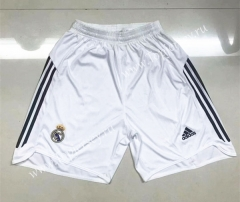 Retro Version 2006 Real Madrid Home White Thailand Soccer Shorts-510