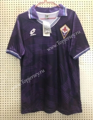 Retro Version 1992-1993 Fiorentina Home Purple Thailand Soccer Jersey AAA-811