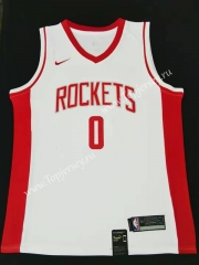 Houston Rockets White #0 NBA Jersey