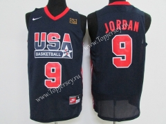 USA Jordan Dark Blue #9 NBA Jersey