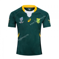 2019 World Cup South Africa Home Green Thailand Rugby Jersey
