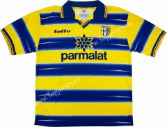 Retro Edition 1998-1999 Parma Calcio Yellow&Blue Thailand Soccer Jersey AAA-811