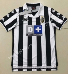 Retro Version 1999-2000 Juventus Home Black&White Thailand Soccer Jersey AAA-510
