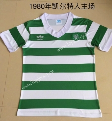 Retro Version 1980 Celtic Home White&Green Thailand Soccer Jersey AAA-DG
