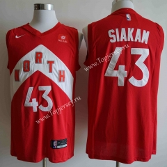 City Edition Toronto Raptors Red #43 NBA Jersey