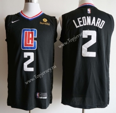 Los Angeles Clippers Printing Black #2 NBA Jersey