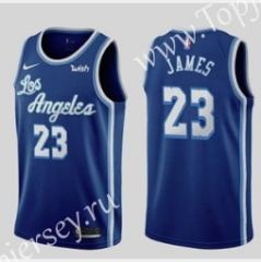 Retro Edition Los Angeles Lakers Blue #23 NBA Jersey