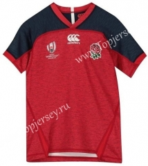 2019 World Cup England Away Red Thailand Rugby Shirt