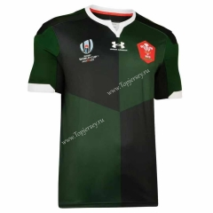 2019 World Cup Wales Away Green Thailand Rugby Shirt