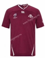 2019 World Cup Georgia Dark Red Thailand Rugby Shirt