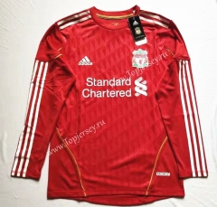 Retro Version 2011-2012 Liverpool Home Red LS Thailand Soccer Jersey AAA-912