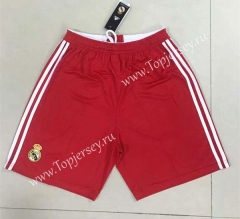 Retro Version 2012 Real Madrid Away Red Thailand Soccer Shorts-510